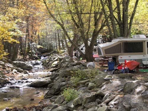Laurel Creek behind our pop-up sites