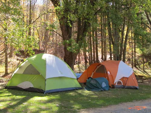 Tent sites with water and electricity