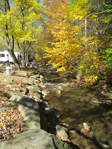 Full hook-ups on Laurel Creek
